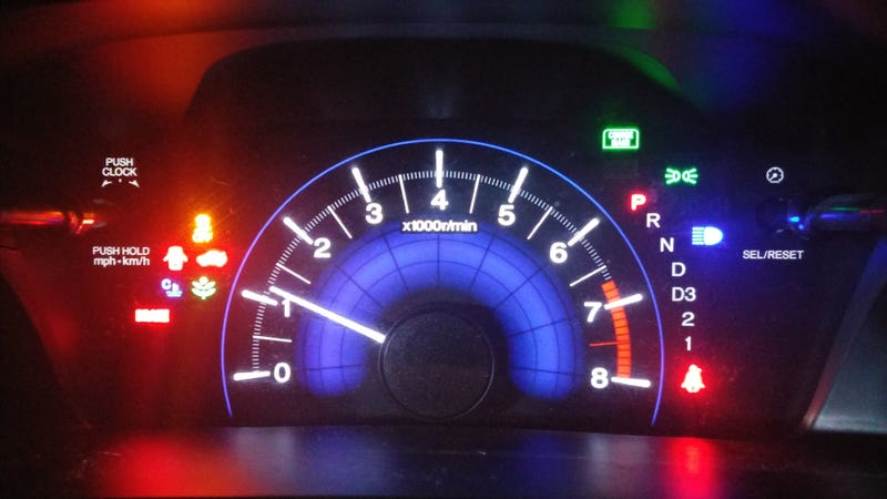 Illustration for article titled How Many Lights Can You Get On Your Dashboard...