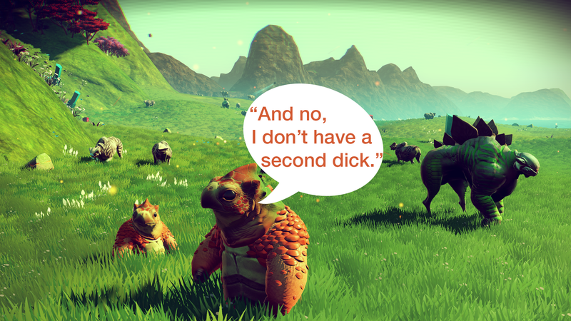 Illustration for article titled No Man's Sky Already Has Erotic Fanfiction
