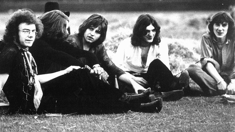 King Crimson's first lineup, circa 1969 (Photo: Photo: The Michael Ochs Archives/Getty Images)