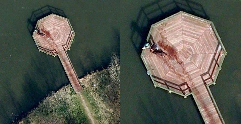 Illustration for article titled ¿Google Maps reveló una escena de crimen o nada es lo que parece?
