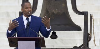 Jamie Foxx at the March on Washington 50th-anniversary commemoration (Saul Loeb/Getty Images)
