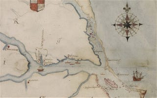 Illustration for article titled 425-year-old map offers new clues to the disappearance of the lost Roanoke Colony