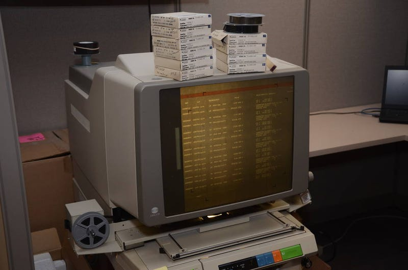 David Williams and the archive team are working to digitize the Viking data so you don't need one of these anymore. (Image: David Williams/NASA)