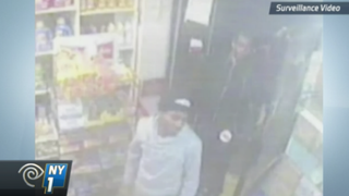 Surveillance video footage from a corner grocery store shows some of the suspects accused in the Jan. 7, 2016, gang rape of an 18-year-old woman.NY 1 Screenshot