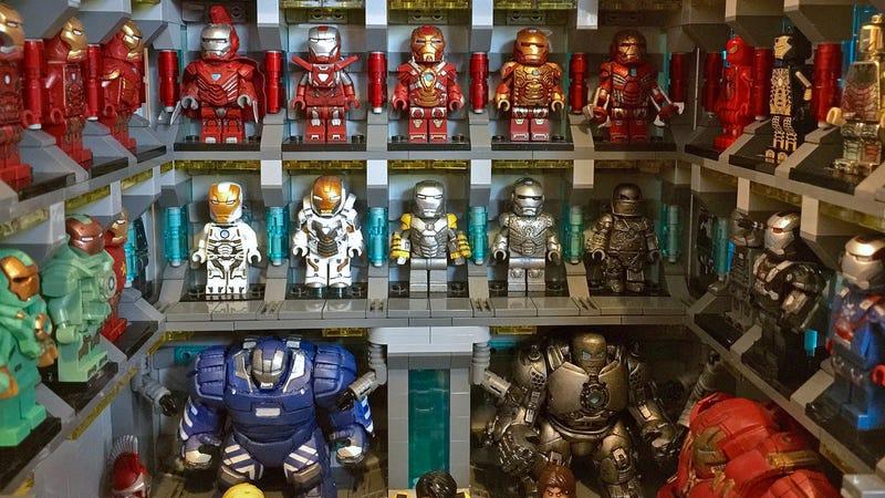 Talented Lego Customizer Recreates Iron Man\'s Vast Suit Collection ...
