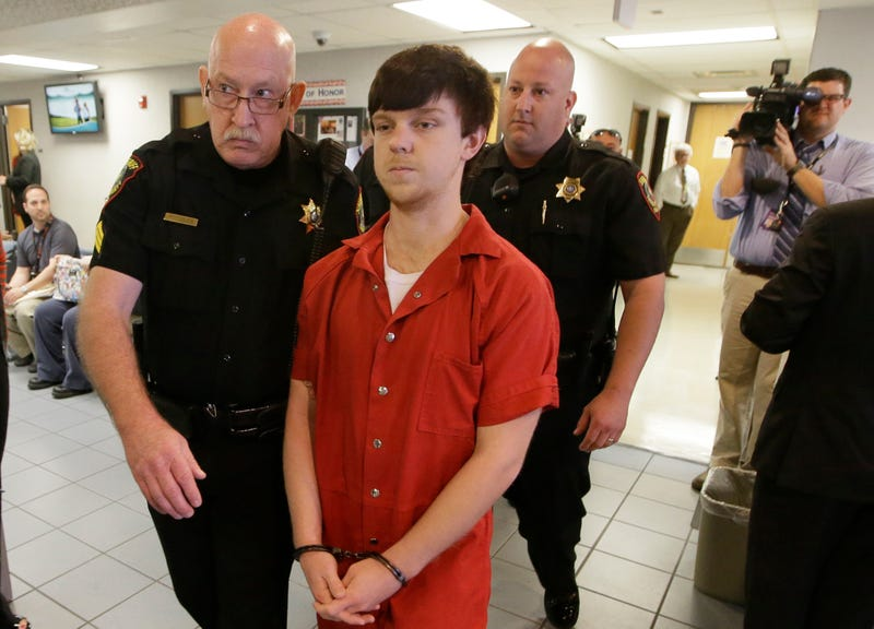 Ethan Couch being led to a juvenile court for a hearing Feb. 19, 2016, in Fort Worth, Texas
