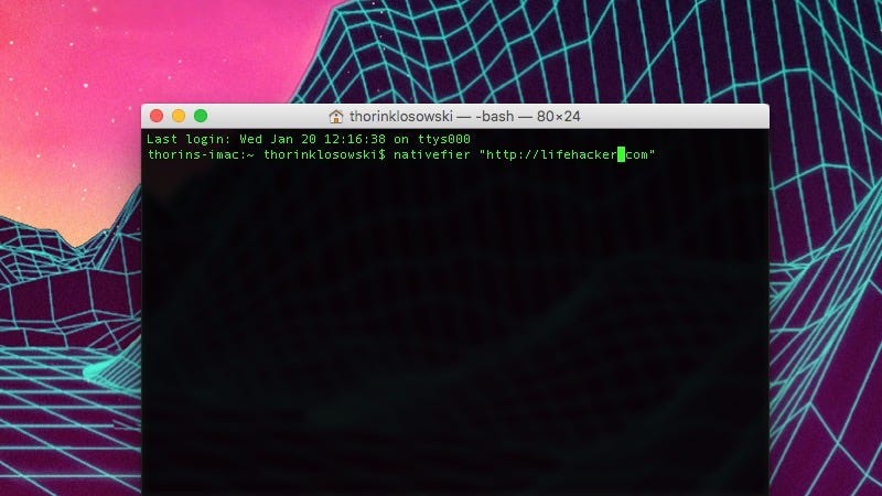 Nativefier Turns Any Web Site Into a Native App from the Command Line