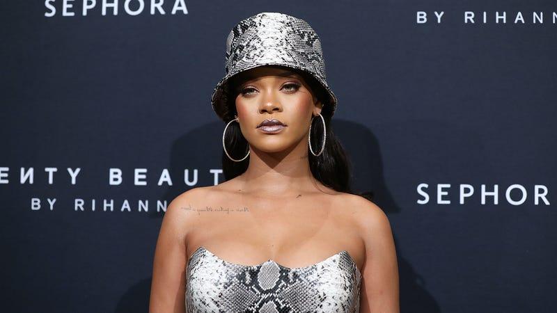 Rihanna attends the Fenty Beauty by Rihanna Anniversary Event on October 3, 2018 in Sydney, Australia.