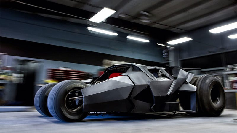 Illustration for article titled This Batman Tumbler Cost Over $1 Million, Is Going To Race