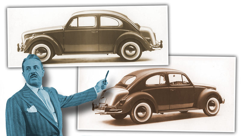 Illustration for article titled That Time Design Legend Raymond Loewy Phoned In An Updated Volkswagen Beetle