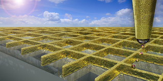 Illustration for article titled Microscopic 3D-Printed Gold Walls Could Make More Sensitive Touchscreens