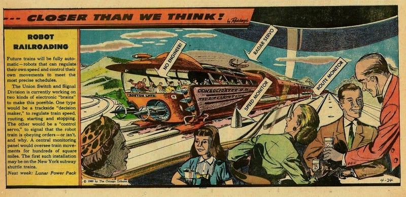Illustration for article titled Robot Railroading (1960)