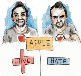 Illustration for article titled Serafinowicz: Five Reasons I Love Apple and Five Reasons I Hate Apple