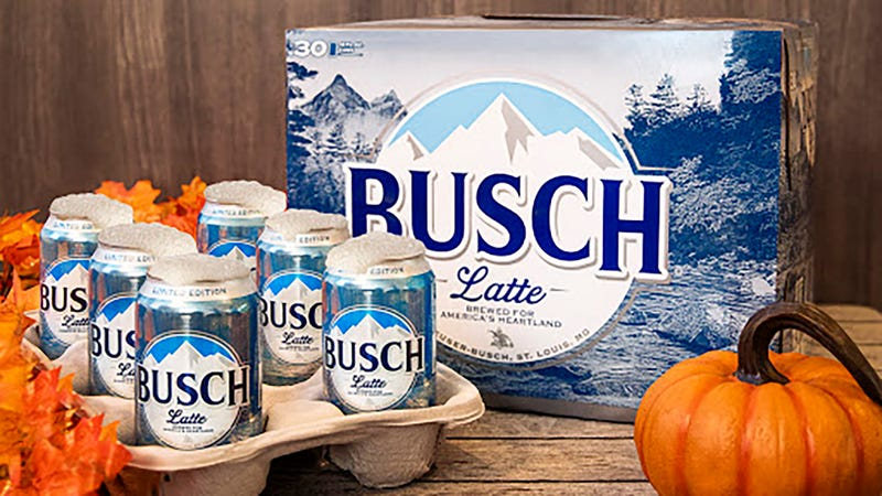 "Illustration for article titled Busch ""Latte"" literally sings the praises of morning beer"