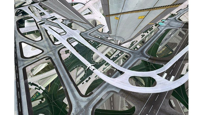 Illustration for article titled I Can't Look At These Warped Airport Photos Without Getting Dizzy