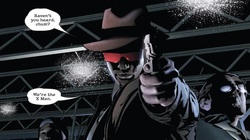 Cyclops, of psychiatrist Charles Xavier's X-Men.