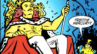 Illustration for article titled Wolverine meets Freddie Mercury = the greatest Marvel Comics pitch of all time