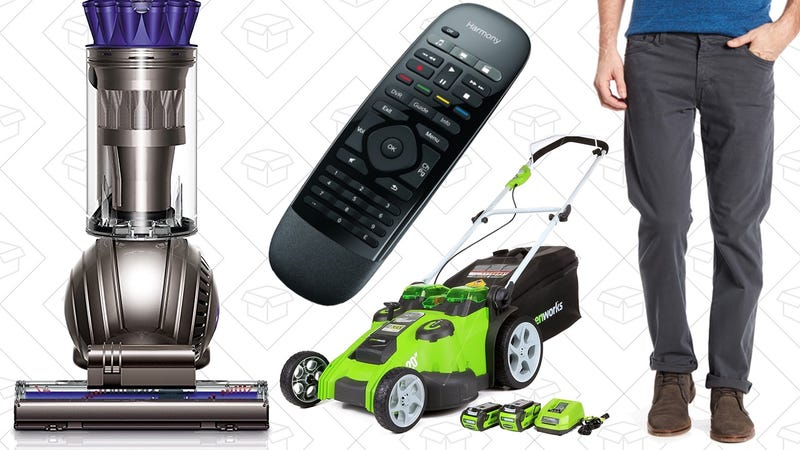 Illustration for article titled Today's Best Deals: Clear the Rack, Dyson Vacuum, Electric Lawnmower, and More