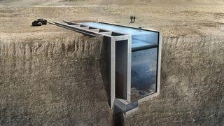 Este diseño de casa en un precipicio es tan terrorífico como maravilloso