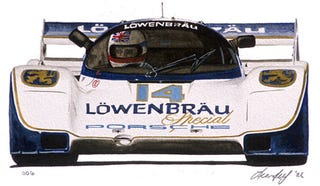 Illustration for article titled Here's to Good Friends, This Porsche's Kinda Special: Lowenbrau 962