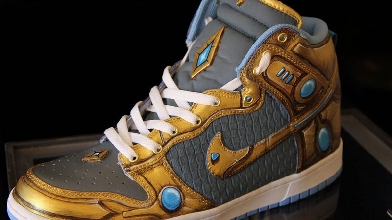 Illustration for article titled Why Wear One Pair of StarCraft Sneakers When You Can Rock Three?