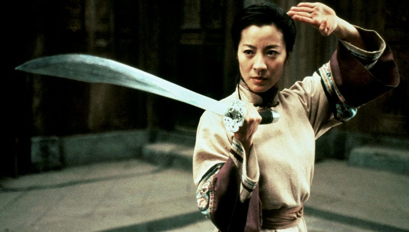 Michelle Yeoh co-stars in Crouching Tiger, Hidden Dragon, which is now on Netflix.