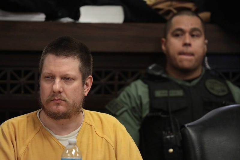 Former Chicago police Officer Jason Van Dyke and his attorney Daniel Herbert attend Van Dyke's sentencing hearing at the Leighton Criminal Court Building January 18, 2019 in Chicago, Illinois.