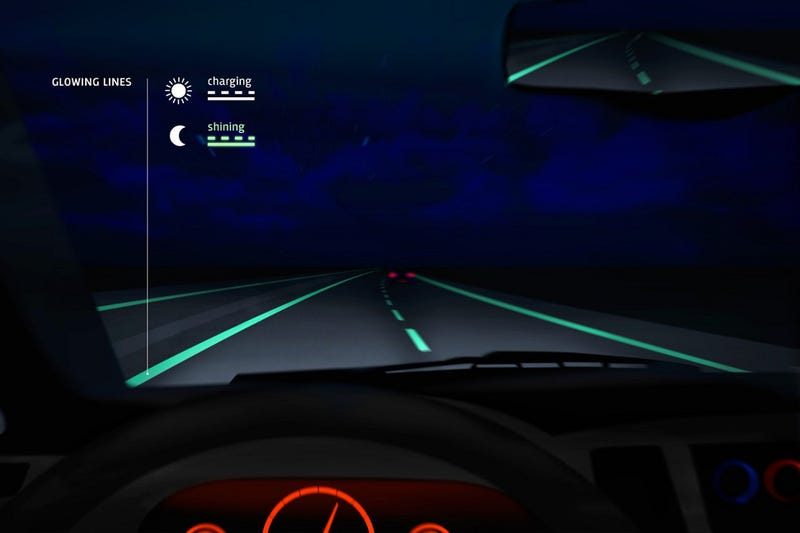 Illustration for article titled In The Netherlands, There Are Now Glow-in-the-Dark Roads