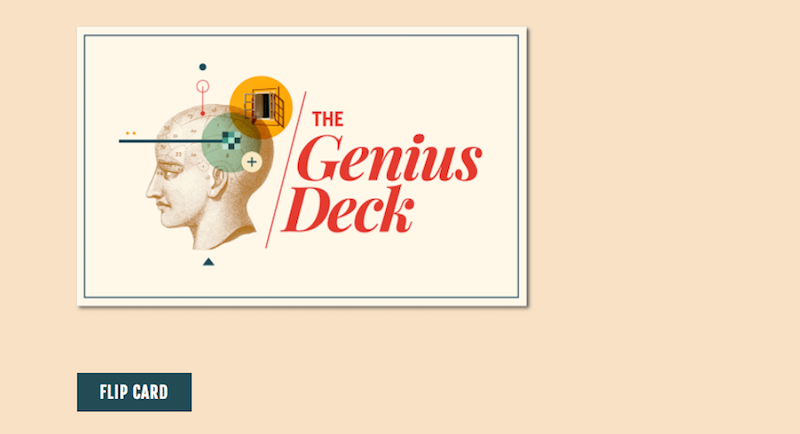 The Genius Deck Helps Reset Your Brain When You're Stuck on a Problem