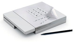 Illustration for article titled Memo Pad Phone Incorporates Message-Taking Paper