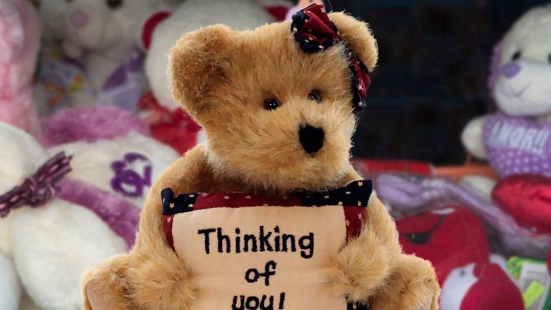 Illustration for article titled Hospital Gift Shop Figures It Can Soak 'Em For 30 On The 'I'm Thinking Of You' Teddy Bear