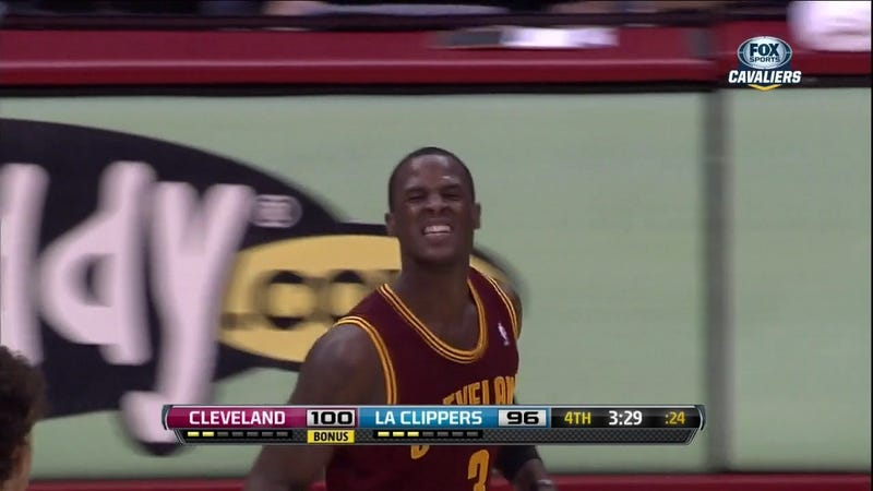 Illustration for article titled Dion Waiters's 28-Point Performance Put A Big Smile On His Face
