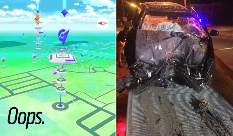 Photo credit: Brian Jones (screencap), Auburn Police Department (crash)