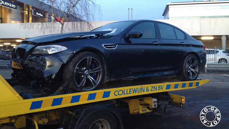 Illustration for article titled First 2012 BMW M5 Crashed In The Netherlands