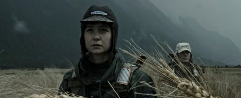 Katherine Waterston as Daniels in Alien: Covenant. Image: screengrab