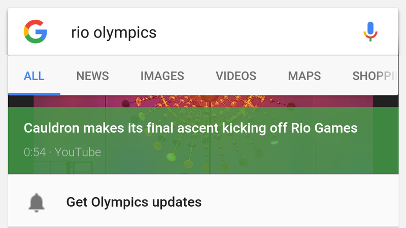 Illustration for article titled Google Gives You Shortcuts and Alerts to Get Instant Olympics Updates