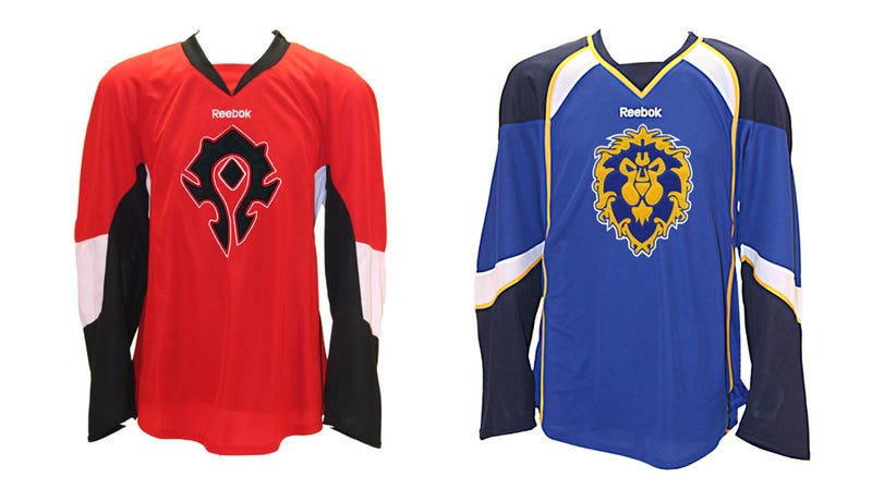 Illustration for article titled Because Nothing Says World Of Warcraft Like Hockey Jerseys