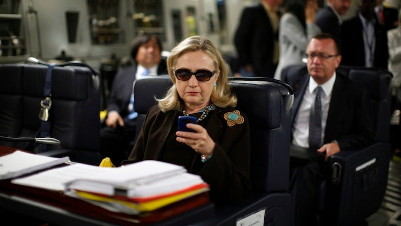 Illustration for article titled More Hillary Clinton Emails Released Including Moment She Became a Meme