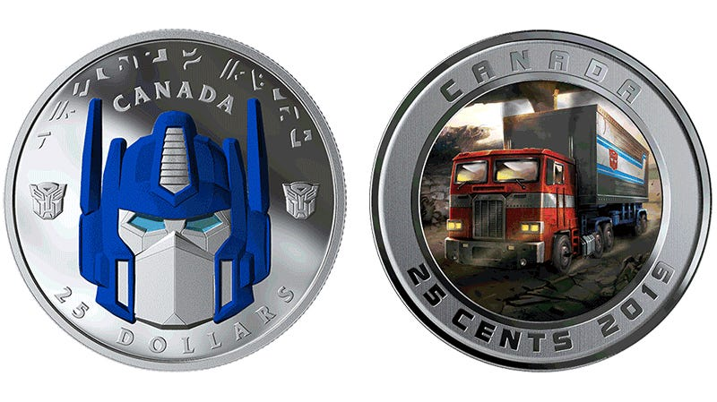 This Optimus Prime Coin Can't Transform, But It Can Still Roll Out, Literally