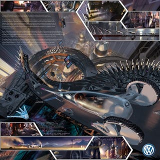 Illustration for article titled Volkswagen Slipstream Is Mix Between Car, Segway and Star Trekish Pod