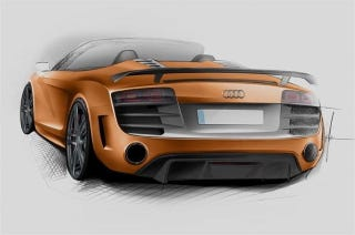 Illustration for article titled This is Audi's lighter R8 GT Spyder