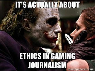 "Illustration for article titled Gamergate's ""ethics in gaming journalism"" claim debunked by use of journalism"
