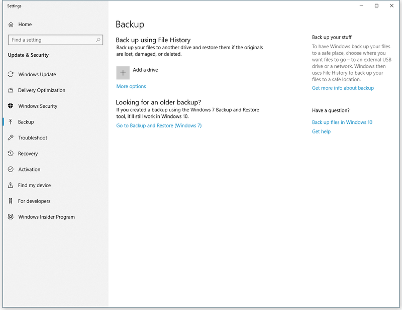 Back Up Windows 10 Before Installing the October Update