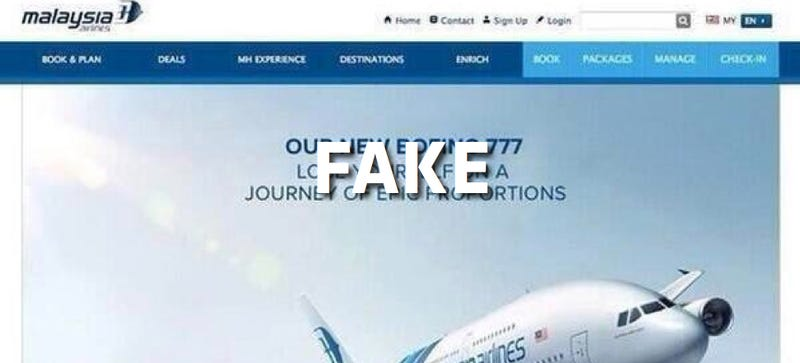 Illustration for article titled That Malaysia Airlines Ad Is Fake So Please Stop Sharing It