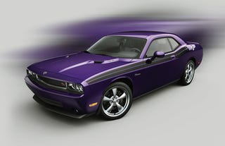 Illustration for article titled First Rendering of 2010 Challenger Going Plum Crazy