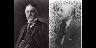 Henry Lyman Morehouse; W.E.B. Du Bois (Taken by Carl Van Vechten in NYC, 1946, Library of Congress)