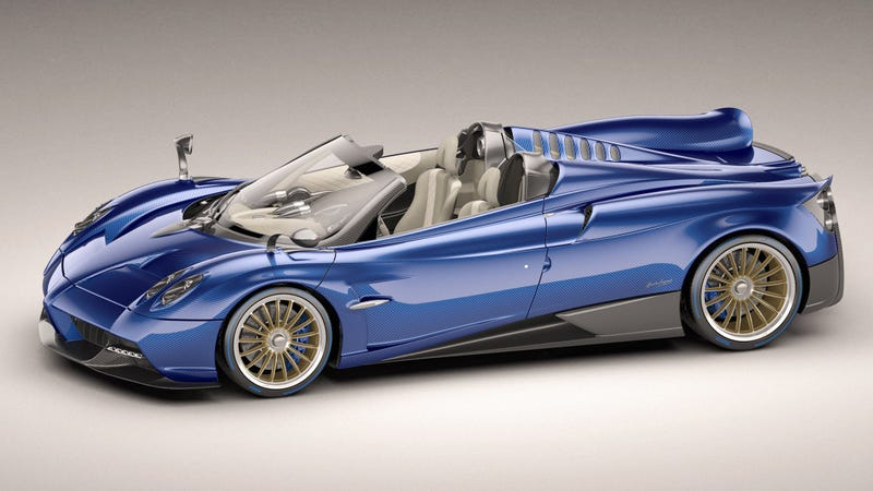 Illustration for article titled The New Pagani Huayra Roadster Is A Gorgeously Complex Twin-Turbo V12 Monster