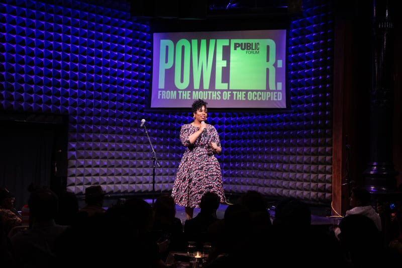 Patrisse Cullors onstage at Joe's Pub at The Public Theater in New York, NY