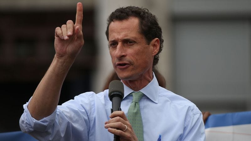 Dick pic aficionado Carlos Danger/Anthony Weiner (Photo: Getty Images, Spencer Platt)
