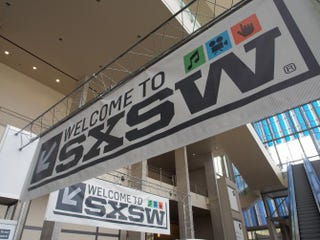 South by Southwest banners hang in the atrium of the Austin Convention Center in 2012. This year's annual interactive, film and music festival begins March 13.Robert MacPherson/AFP/Getty Images